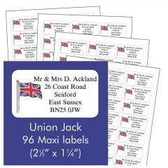 Union Jack Address Labels