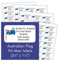 Australian Flag Address Labels