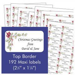 Top Border Address Labels