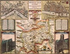 Middlesex Historical Map 1000 Piece Jigsaw Puzzle (1610)