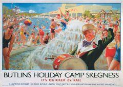 Railway Poster Jigsaw - Butlin's in Skegness