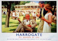 Railway Poster Jigsaw - A conversation in the park - Harrogate