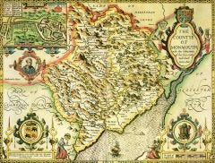 Monmouthshire Historical Map 1000 Piece Jigsaw Puzzle (1610)