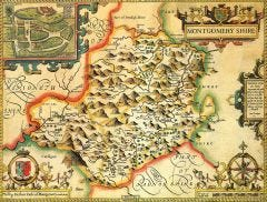 Montgomeryshire Historical Map 1000 Piece Jigsaw Puzzle (1610)