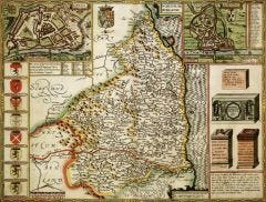 Northumberland Historical Map 1000 Piece Jigsaw Puzzle (1610)