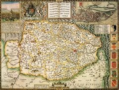 Northamptonshire Historical Map 1000 Piece Jigsaw Puzzle (1610)