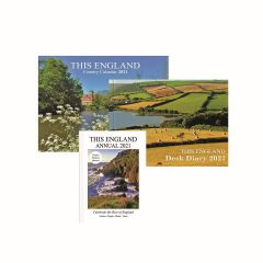 This England Annual, Country Calendar and Desk Diary 2021