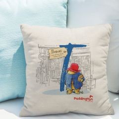 Paddington Bear Initial Linen Cushion