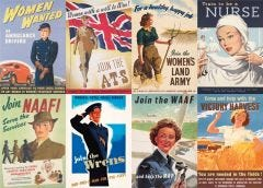 WW2 Recruiting Women Posters Jigsaw Puzzle