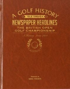 The Open Golf Newspaper Book