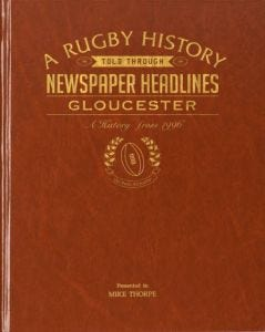 Personalised Gloucester Rugby Newspaper Book
