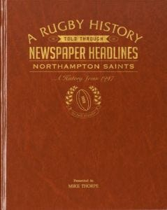 Personalised Northampton Rugby Newspaper Book