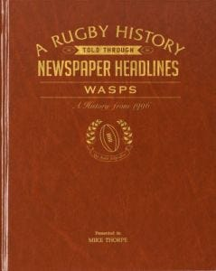 Personalised Wasps Rugby Newspaper Book