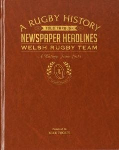 Personalised Welsh Rugby Team Newspaper Book