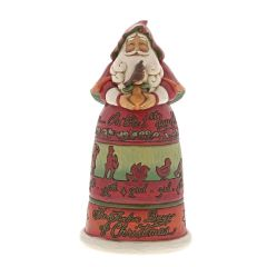 Twelve Days of Christmas Santa Figurine