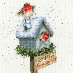 Snowy Robins at Home Cross Stitch Kit
