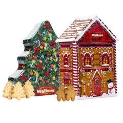 Gingerbread House & Christmas Tree Tin Pack