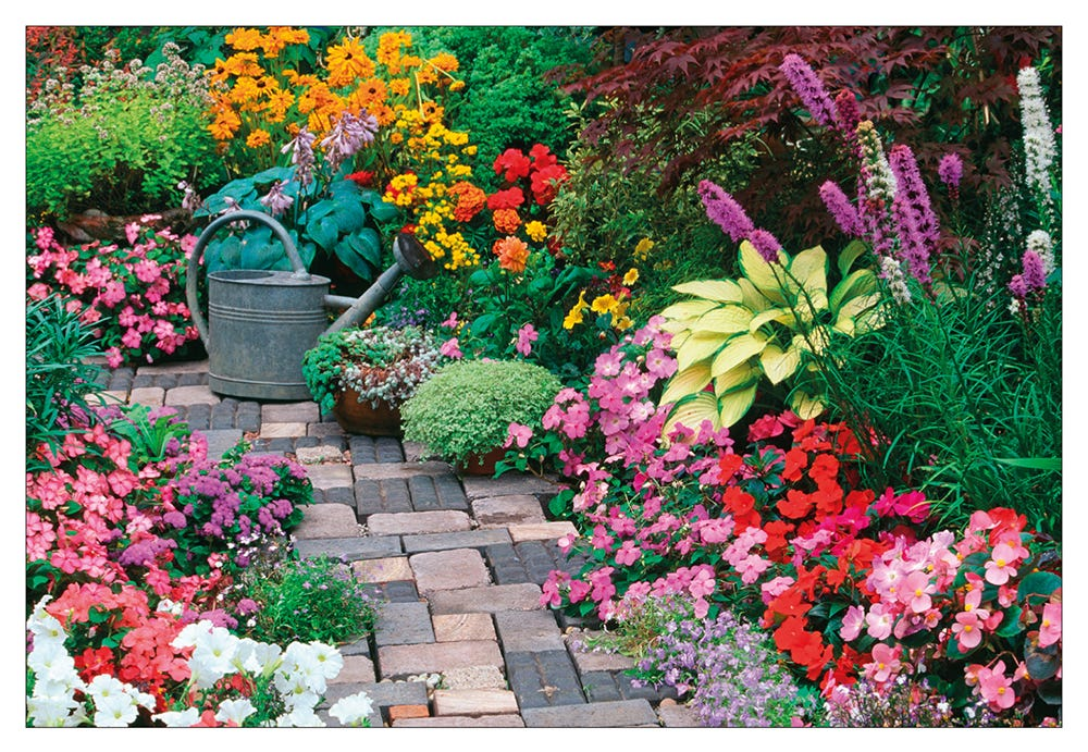 Landscaping Shrubs Crossword : Hobbies jigsaw puzzles a colourful courtyard garden puzzle